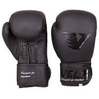 Боксерські рукавички шкіряні чорні 10oz Velo Mate, фото 2