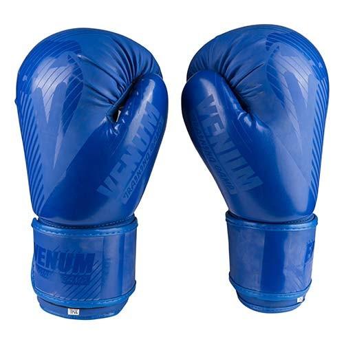 Боксерские перчатки матовые синие 12oz Venum DX-2955