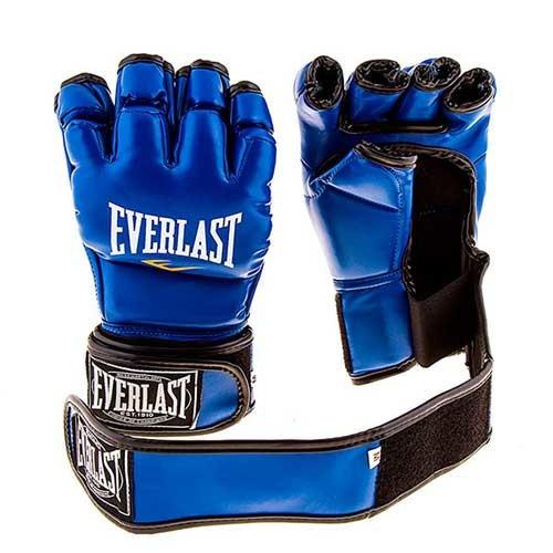 Перчатки единоборств синие Everlast MMA, DX364, размер XL