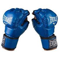 Перчатки единоборств синие Everlast MMA, DX364, размер XL, фото 2