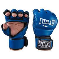 Перчатки единоборств синие Everlast MMA, DX364, размер XL, фото 3