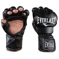 Рукавички єдиноборств чорні Everlast MMA, DX364, розмір XL, фото 3