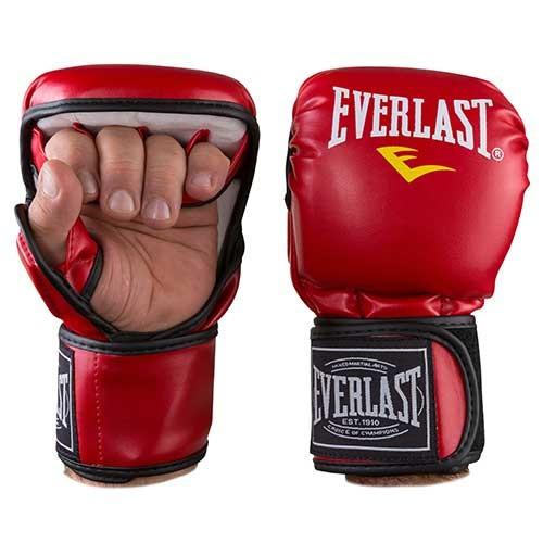 Рукавички для єдиноборств червоні Everlast MMA-415, розмір XL