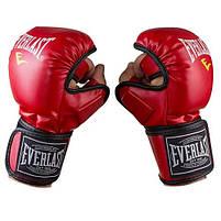 Рукавички для єдиноборств червоні Everlast MMA-415, розмір XL, фото 2