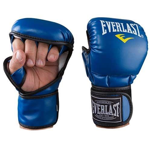 Перчатки для единоборств синие Everlast MMA-415, размер L