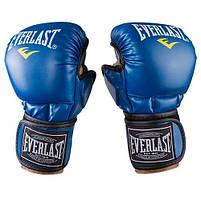 Перчатки для единоборств синие Everlast MMA-415, размер L, фото 2
