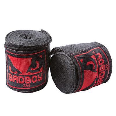 Бинты боксерские Bad Boy, 3м черные