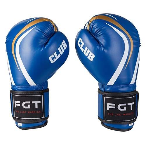 Боксерские перчатки FGT синие 8oz CLUB, Flex