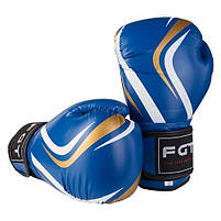 Боксерские перчатки FGT синие 8oz CLUB, Flex, фото 3