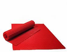 Цветная вощина 26х41см Красный