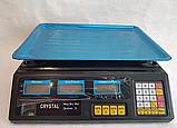 Торговые Весы электронные с калькулятором Crystal 50 kg 6V Черный, весы торговые электронные,  весы для, фото 2