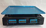 Торговые Весы электронные с калькулятором Crystal 50 kg 6V Черный, весы торговые электронные,  весы для, фото 6