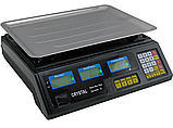 Торговые Весы электронные с калькулятором Crystal 50 kg 6V Черный, весы торговые электронные,  весы для, фото 7
