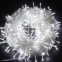 Гірлянда світодіодна 100 led 6м біла   гирлянда светодиодная нити 100 лампочек белая