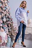 Рубашка женская 133R801 цвет Бело-голубой, фото 5