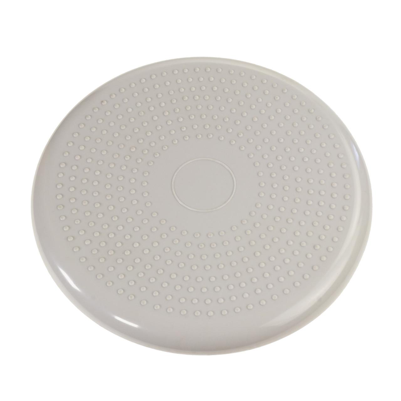 Подушка балансировочная массажная для фитнеса и сидения (фитдиск полусфера), серый