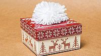 """Подарочная коробочка """"Новогодняя шапка"""" красный М0003-о11"""