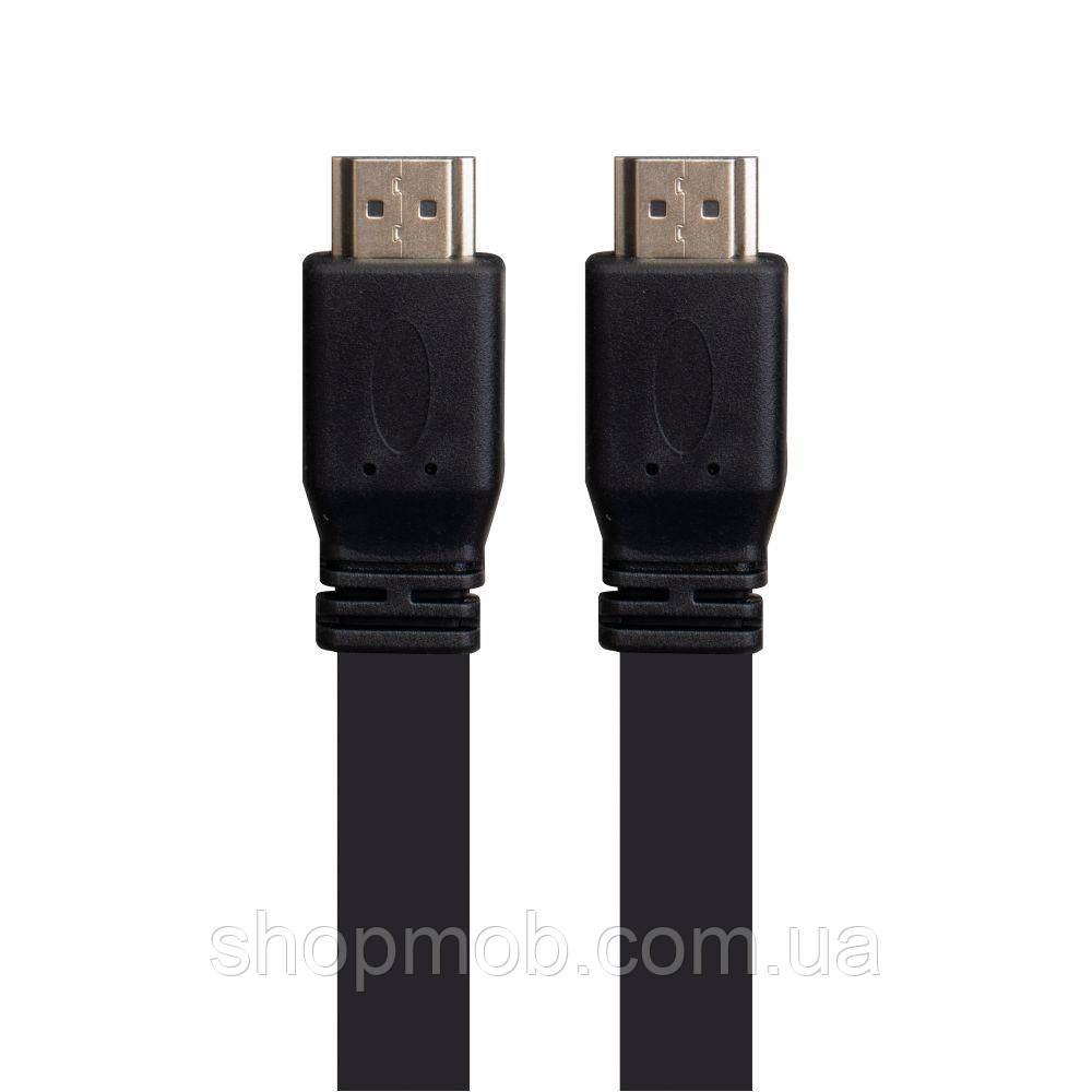 Кабель HDMI-HDMI 1.4 V 5m Flat Колір Чорний