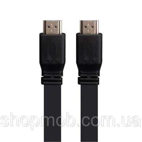 Кабель HDMI-HDMI 1.4 V 5m Flat Колір Чорний, фото 2