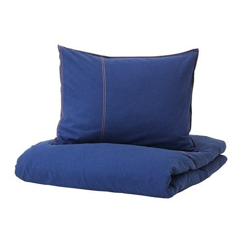 ИКЕА (IKEA) SÅNGLÄRKA, 304.269.97, Комплект постельного белья, темно-синий, 150x200/50x60 см - ТОП ПРОДАЖ