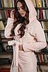 Персиковый халат с капюшоном (длинный), фото 2