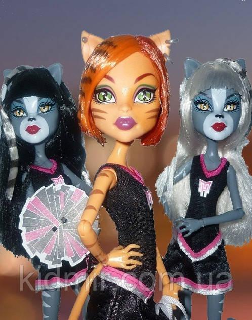 Набір ляльок Monster High Пуррсефона, Мяулодия і Торалей (Toralei & sisters) Монстер Хай