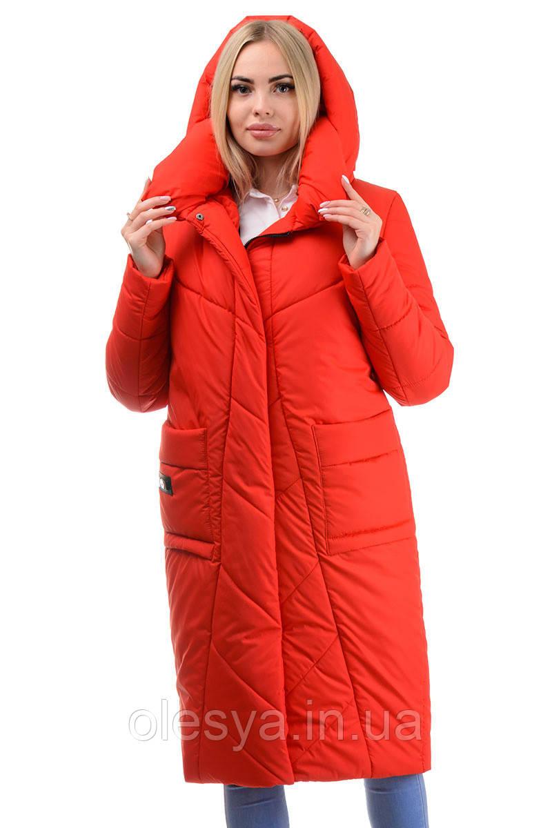 Стильное теплое молодежное пальто Матильда Размеры 44- 50