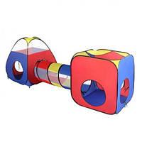Палатка детская игровая с туннелем MR 0347