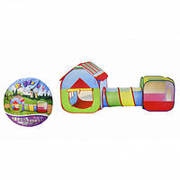 Детская палатка игровая домик с тоннелем Metr+ T011-10B разноцветная