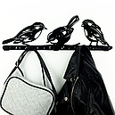 Вешалка настенная Glozis Birds H-066 50 х 16 см, фото 6