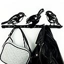 Вішалка настінна Glozis Birds H-066 50 х 16 см, фото 6