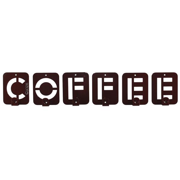 Вішалка настінна Glozis Coffee H-004 50 х 10 см
