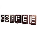Вішалка настінна Glozis Coffee H-004 50 х 10 см, фото 2