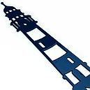 Вешалка настенная Glozis Sea H-065 50 х 26 см, фото 3