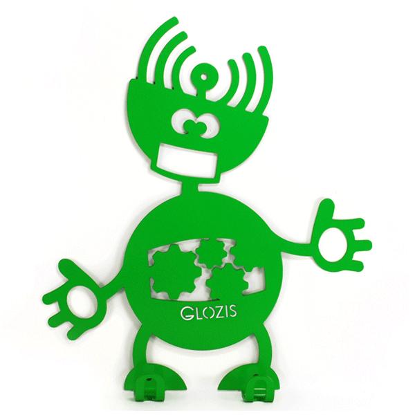 Вешалка настенная Детская Glozis Robot Mechanic H-009 26 х 22 см