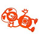 Вешалка настенная Детская Glozis Robot Phone H-008 26 х 22 см, фото 2