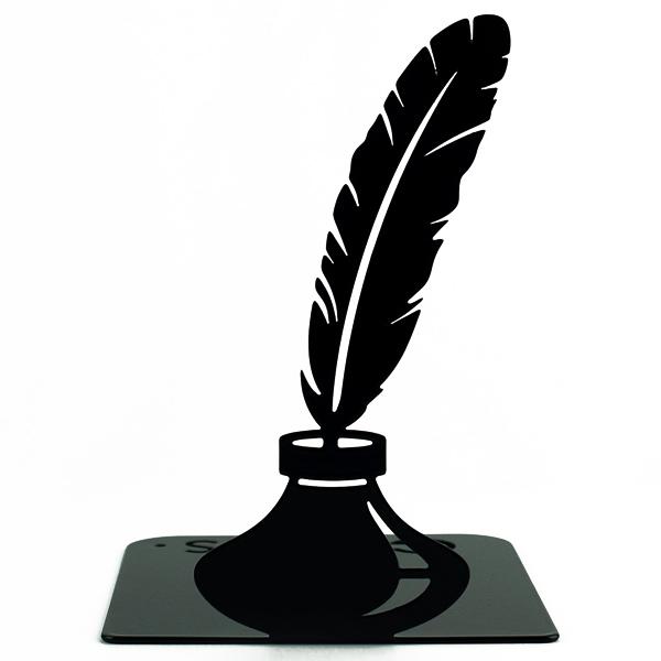 Упор для книг Glozis Feather 15 х 12 см Чорний (G-036)