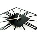 Настенные Часы Glozis New York 35х35 см Черный (B-024), фото 3