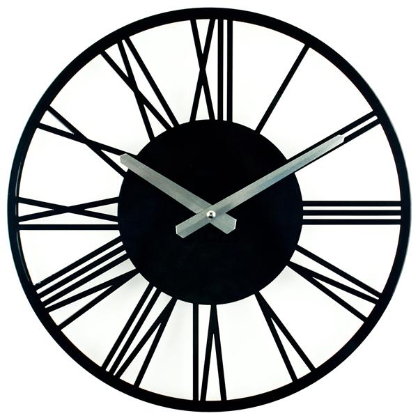 Настінні Годинники Glozis Rome 35х35 см Чорний (B-022)