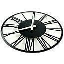 Настінні Годинники Glozis Rome 35х35 см Чорний (B-022), фото 2