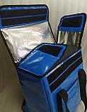 Терморюкзак высокий для доставки еды, суши, напитков. Рюкзак для курьерской доставки еды, напитков. ПВХ, фото 4