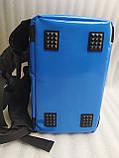 Терморюкзак высокий для доставки еды, суши, напитков. Рюкзак для курьерской доставки еды, напитков. ПВХ, фото 8