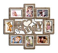 Фоторамка коллаж family настенная на несколько фотографий для всей семьи