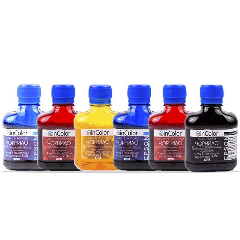 Комплект чернил InColor для фотопечати на Epson Colorio EP-708A 6 x 100 мл BK/C/M/Y/LC/LM (hub_LWGS99257)