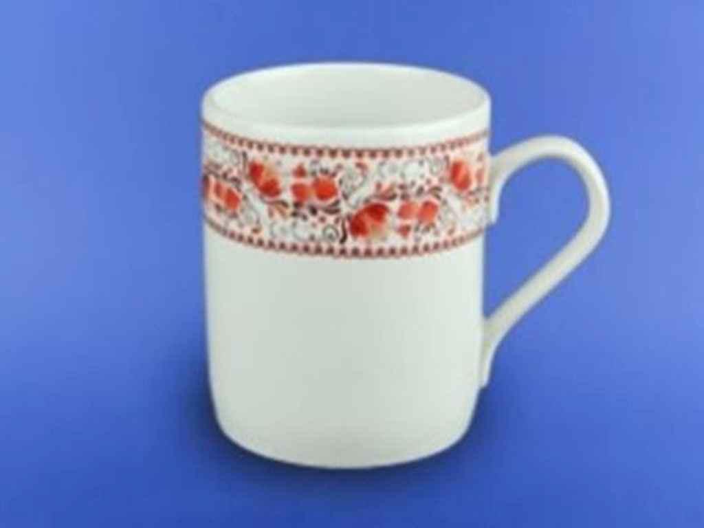 Чашка керамическая Авангард Офисная Гжель 350 мл