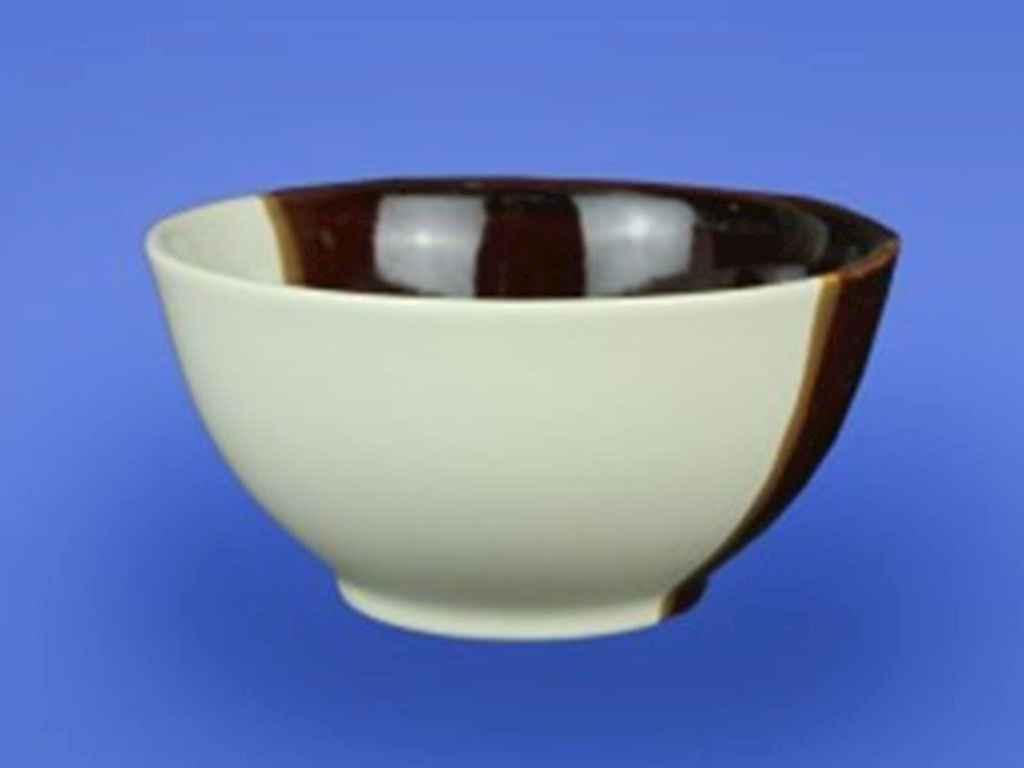 Салатник керамический Авангард Новый бело-коричневый 700 мл