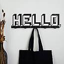 Вешалка настенная Glozis H-073 52см х 15 см Hello, фото 2