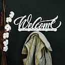 Вешалка настенная Glozis H-077 50см х 18 см Welcome White, фото 2