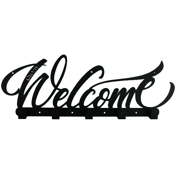 Вешалка настенная Glozis H-078 50см х 18 см Welcome Black