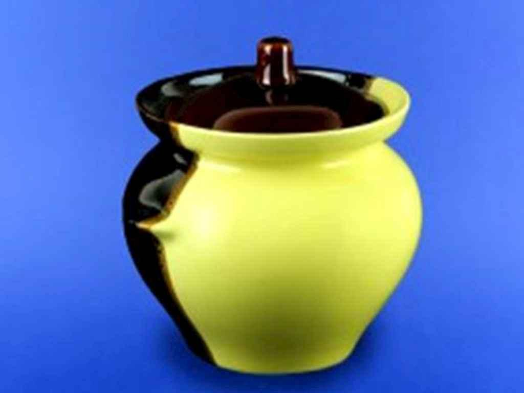 Горшок керамический для жаркого Авангард 450 мл желто-коричневый